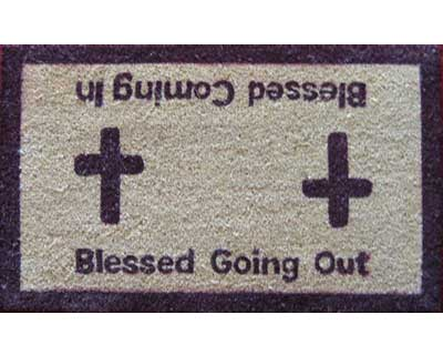 Blessed Coming In - Blessed Going Out Doormat